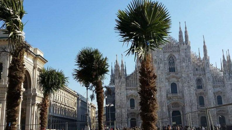 L'allegro Boschetto della Memoria in piazza Duomo