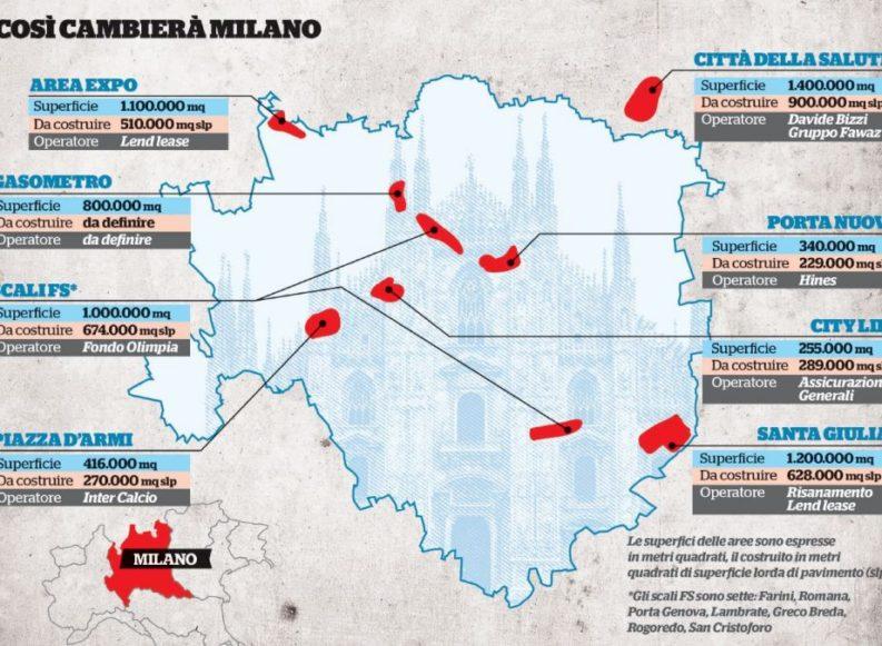 Milano, ancora grattacieli e cemento in arrivo su 3 milioni di metri quadrati