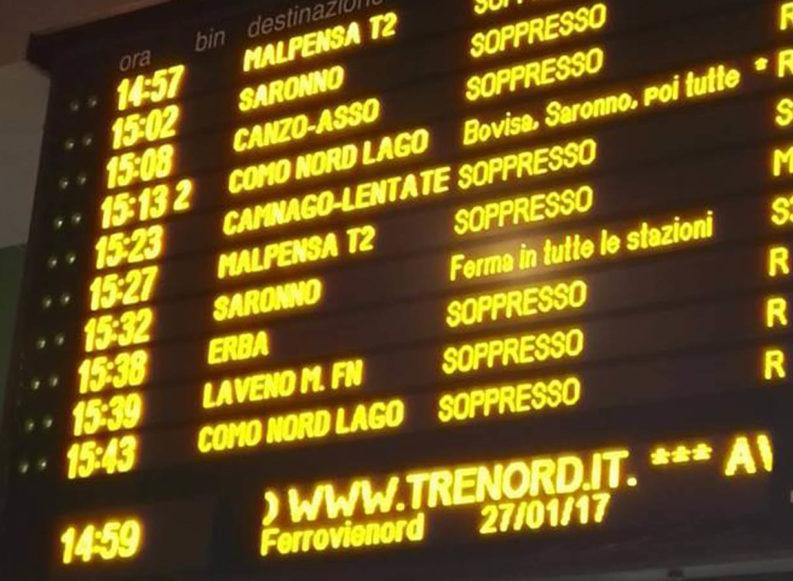 Lombardia locomotiva d'Italia, ma Trenord non parte