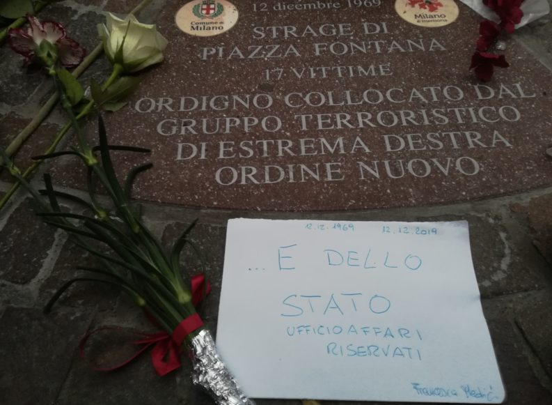 Il presidente Mattarella: su Piazza Fontana, depistaggi di Stato