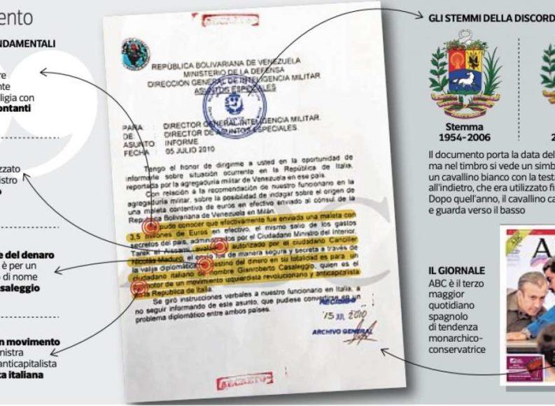 Dossier Venezuela-Cinquestelle: indagine a Milano