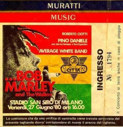 Bob Marley a San Siro, lo spartiacque tra impegno e business