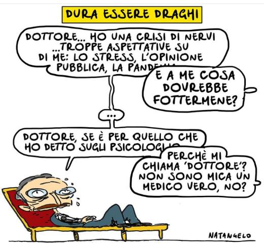 """La gaffe di Draghi. Il presidente degli psicologi: """"È stato lui a obbligarci alla vaccinazione"""""""